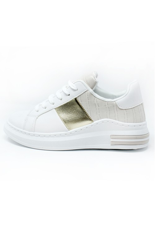Pamela Scott White, Beige and Gold Trainer