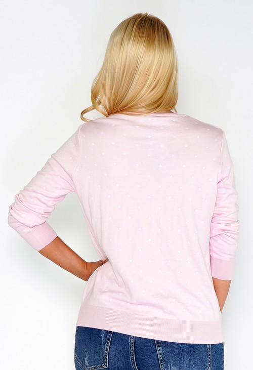 Twist Pink Confetti Pullover