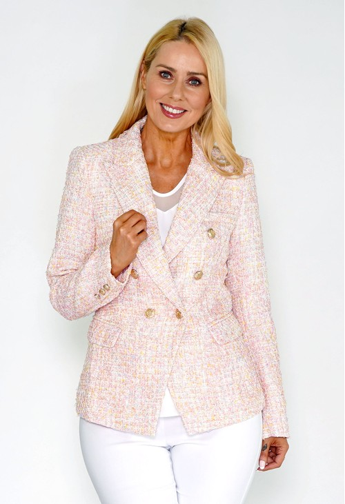 Pamela Scott Pink Tweed Blazer