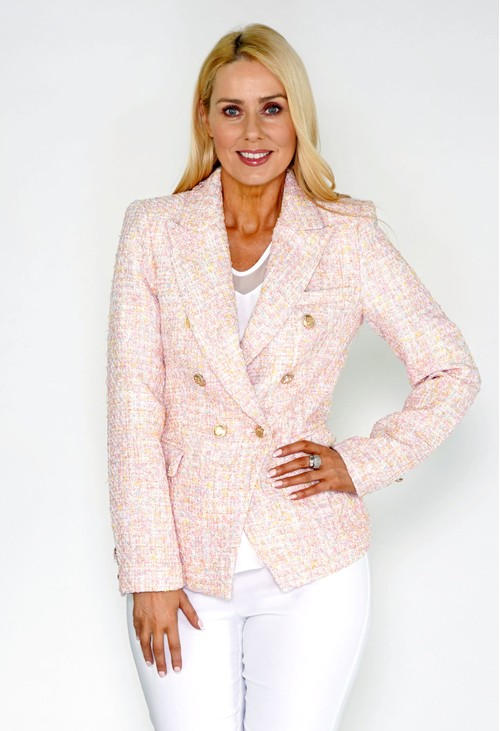 Pamela Scott Pink Tweed Blazer