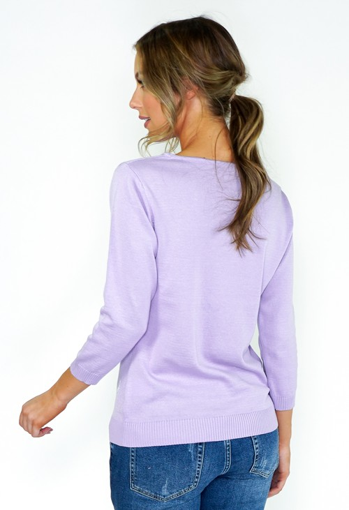 Twist Lilac Bird Knit with Lurex