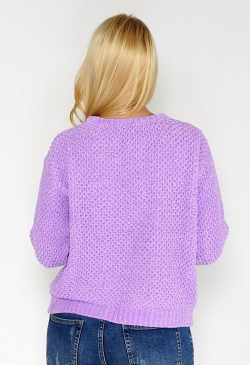 Twist Lavender Chenille Knit