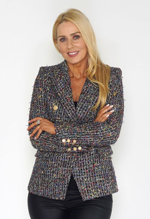 Pamela Scott Black Tweed Blazer