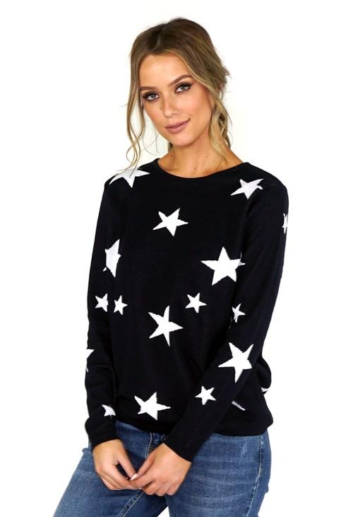 Twist Navy Star Knit