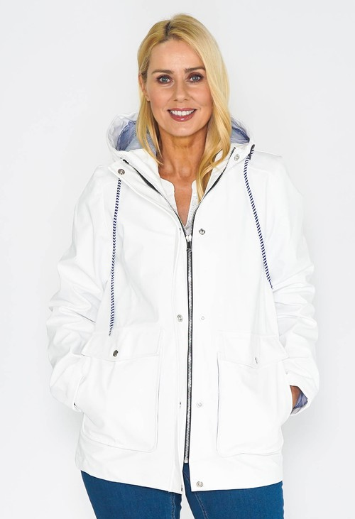 Pamela Scott White RAINCOAT