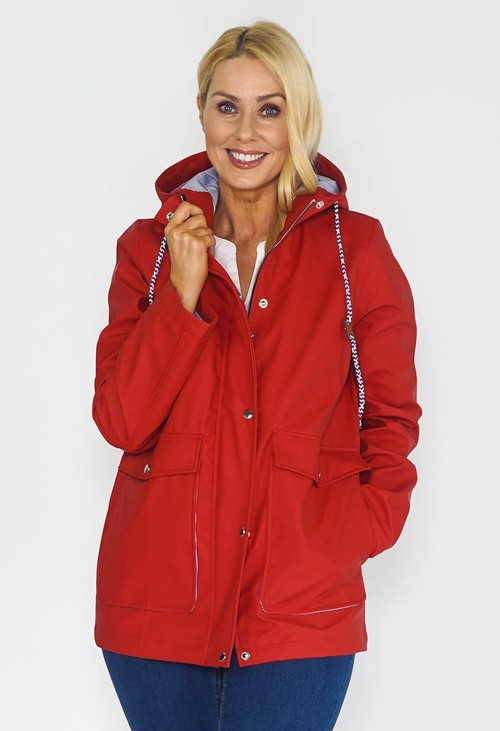 Pamela Scott RED RAINCOAT