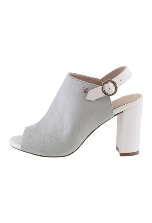 Shoe Lounge Light Grey Block Heel Peep Toe Sling back