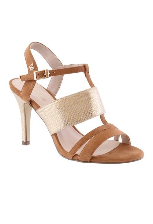 Shoe Lounge Tan High Heel Instep Strap Shoe