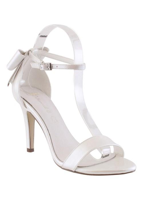 Shoe Lounge Ivory High Heel Ankle Strap Shoe