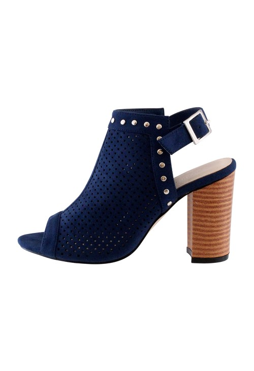 Shoe Lounge Navy Heel Peep Toe Sling back