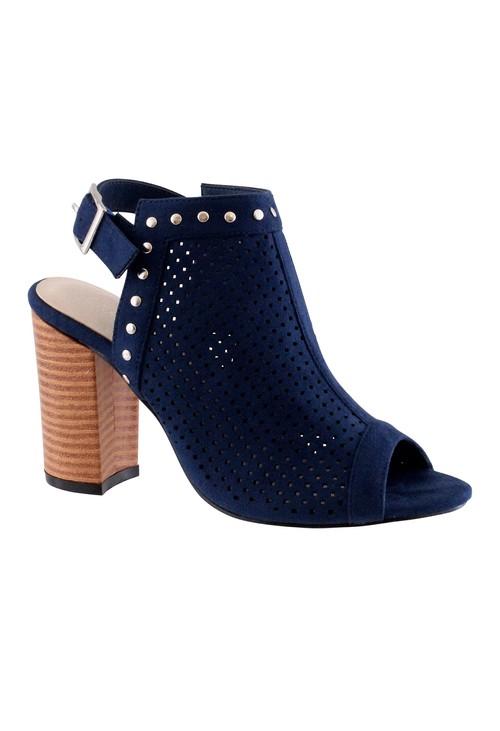 Shoe Lounge Navy Heel Peep Toe Sling back