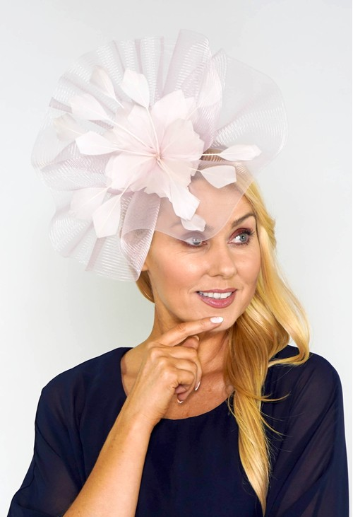 Maddox Pale Pink Flower Detail Fascinator