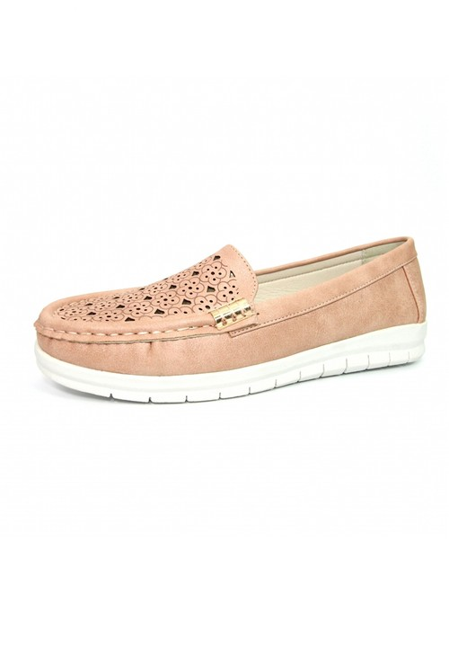 Lunar Rose Decorative Moccasin Shoe