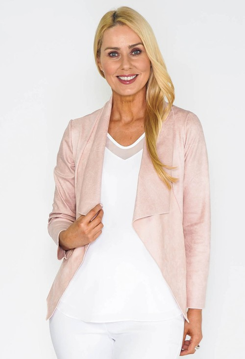 Sophie B Pink Waterfall Suede Jacket