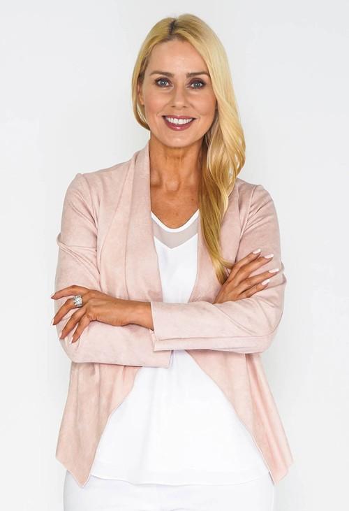 Sophie B Pink Waterfall Suede Jacket