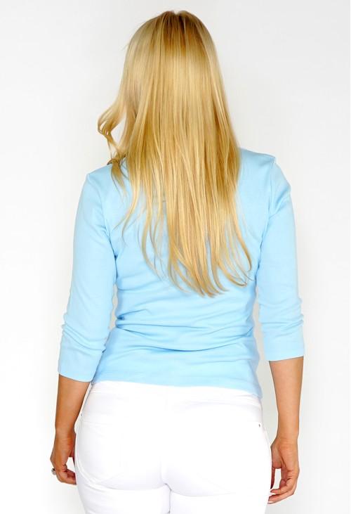 Twist Blue Pocket Polo Top