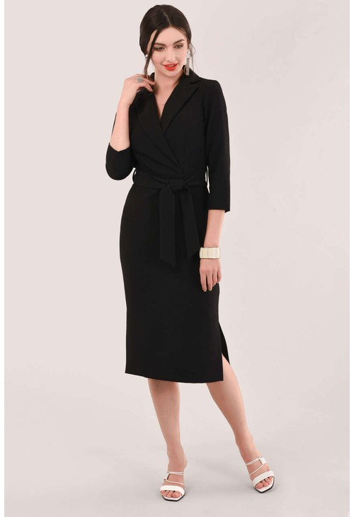 Closet BLACK 3/4 SLEEVE PENCIL DRESS