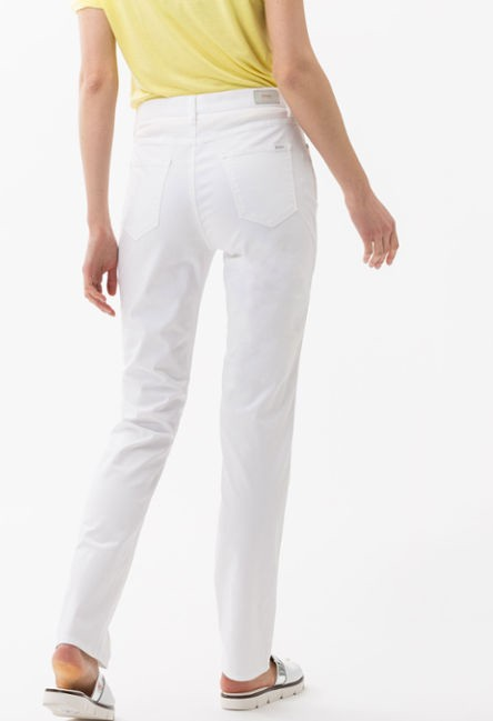 Brax White Five-pocket trousers Reg leg