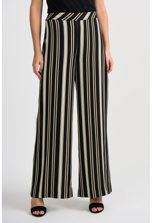 Joseph Ribkoff Striped Wide Leg Trouser