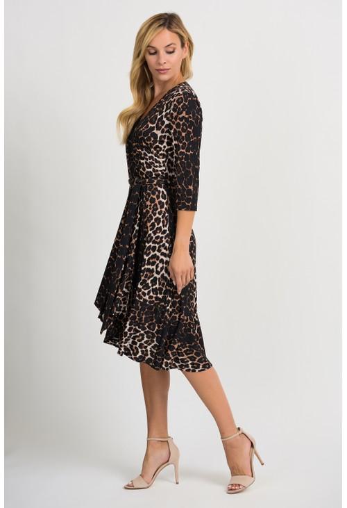Joseph Ribkoff Leopard print wrap dress