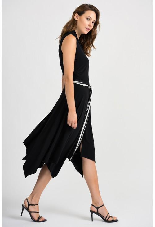 Joseph Ribkoff Sleeveless Drape Dress