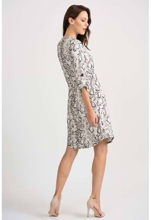 Joseph Ribkoff snake print shirt style dress
