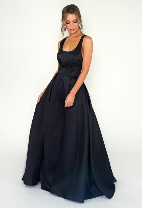 My Michelle Black Ballgown