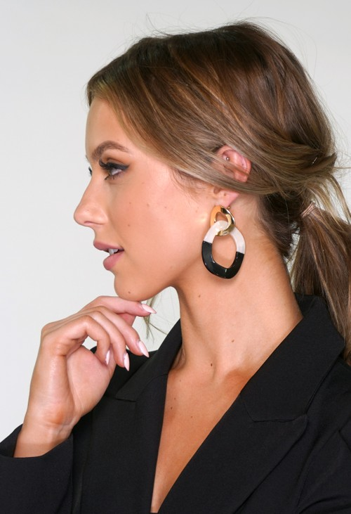 Pamela Scott Two Tone Earrings