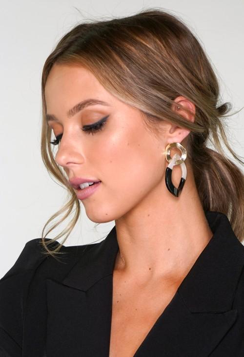 Pamela Scott Two Tone Earrings