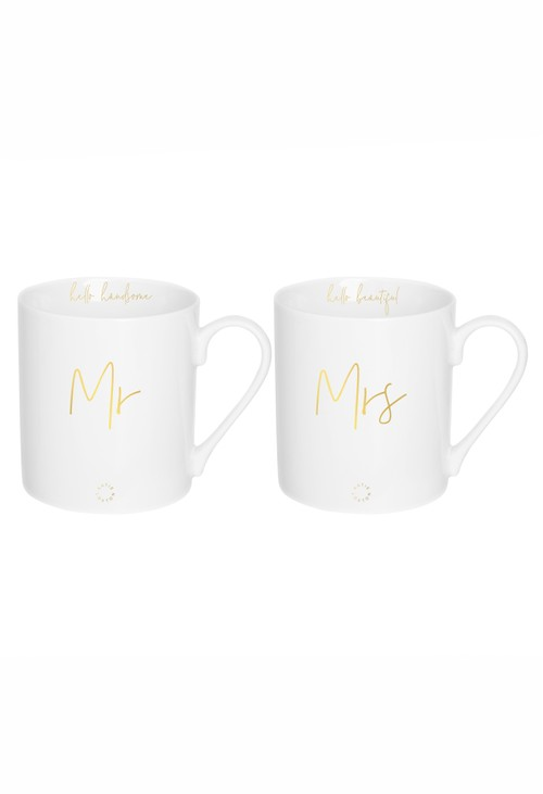 Katie Loxton PORCELAIN MUG GIFT SET | MR AND MRS