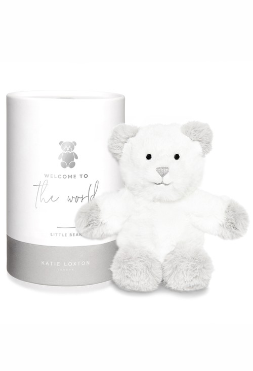 Katie Loxton BEAR BABY TOY | WELCOME TO THE WORLD | GREY