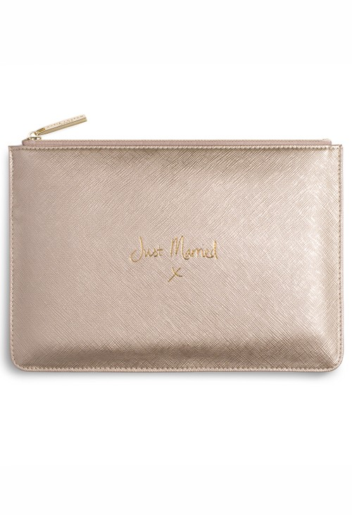 Katie Loxton PERFECT POUCH | JUST MARRIED | METALLIC GOLD