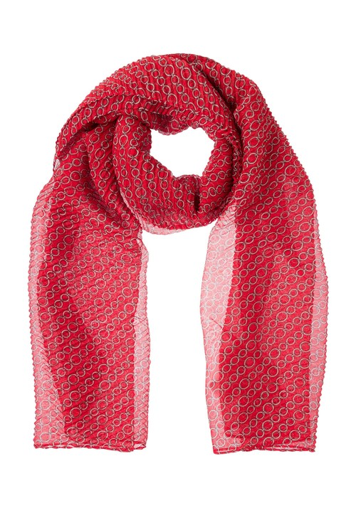 Olsen CHAIN PRINT SCARF SPICY RED