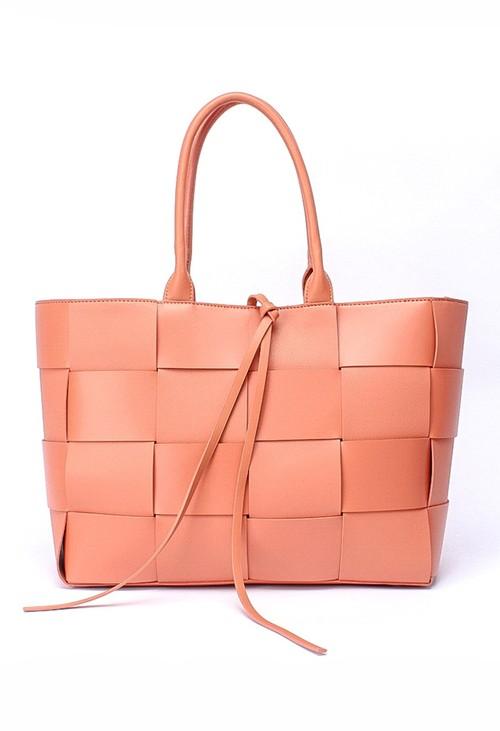Bestini Peach Woven Tote Bag