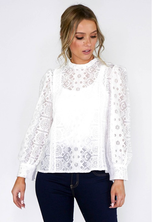 Pamela Scott Crochet Lace Top