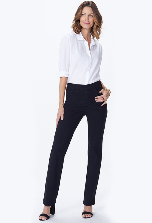 NYDJ Straight leg in black coloured denim (Petite)