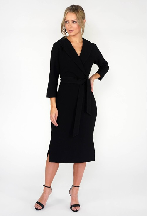 Closet BLACK 3/4 SLEEVE PENCIL DRESS