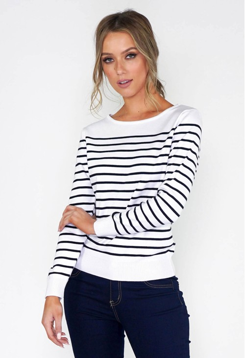 Twist Stripe Pullover