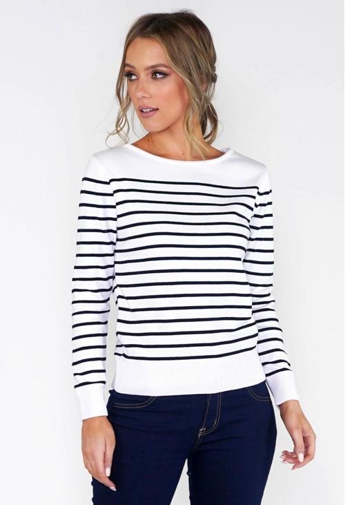 Twist Stripe Pullover