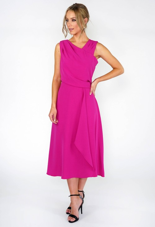 Donna Ricco Ruched Top Dress
