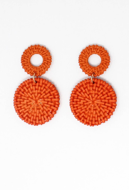 Pamela Scott Red Orange Earrings