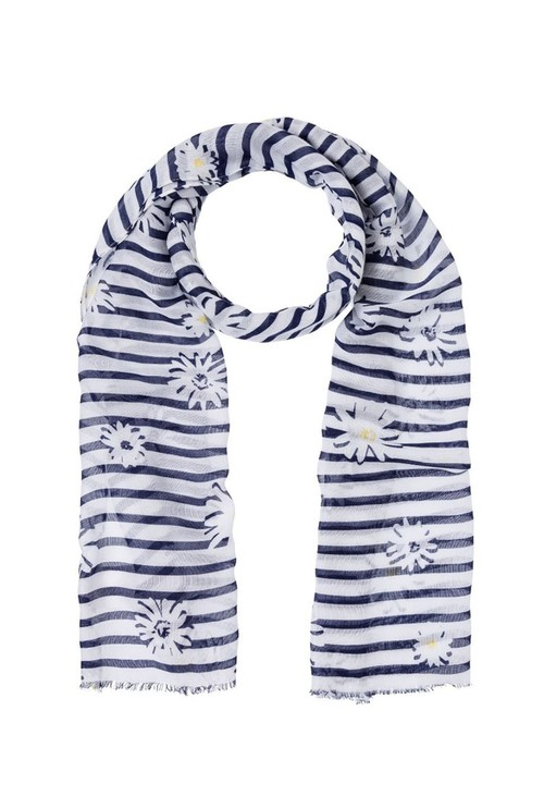 Olsen DAISY AND STRIPE SCARF NAVY