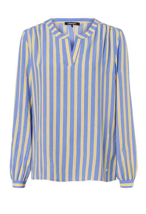 Olsen Golden Kiwi Stripe Blouse
