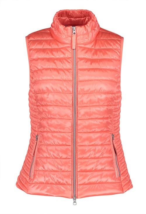 Betty Barclay Light Coral Quilted Gilet