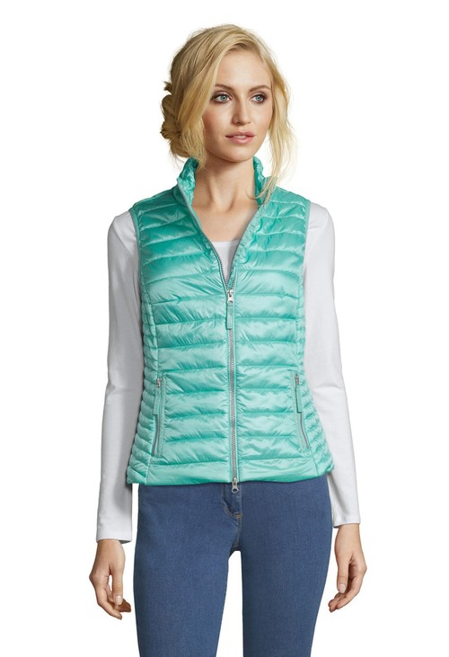 Betty Barclay Pool Blue Quilted Gilet