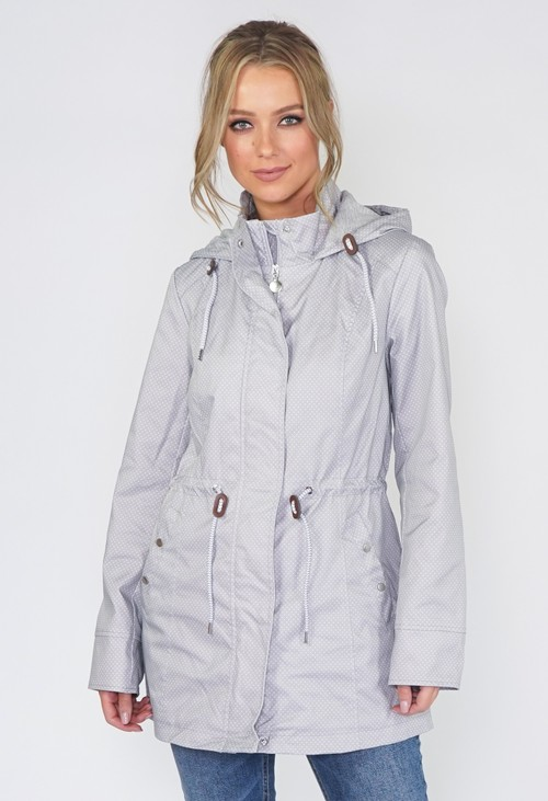 Twist Grey Polka Dot Raincoat