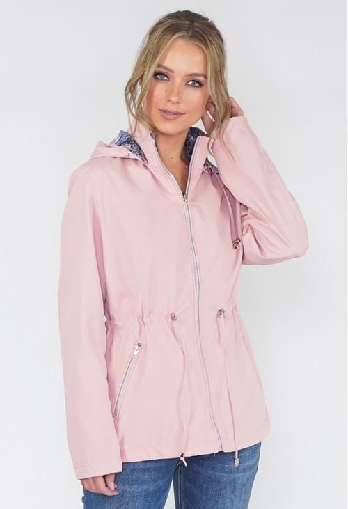Pamela Scott Pink Reversible Paisley Raincoat