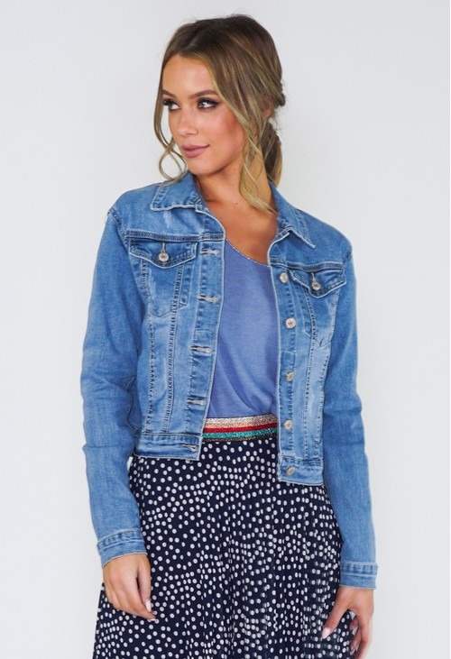 Pamela Scott Light Wash Denim Jacket