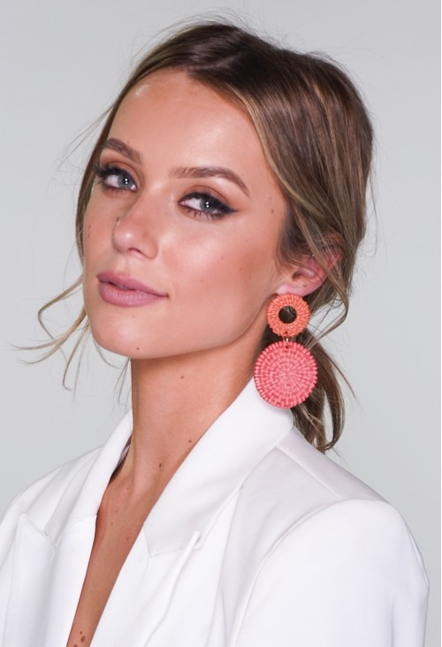 Pamela Scott Coral Earrings