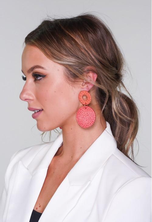 Pamela Scott Coral Earrings